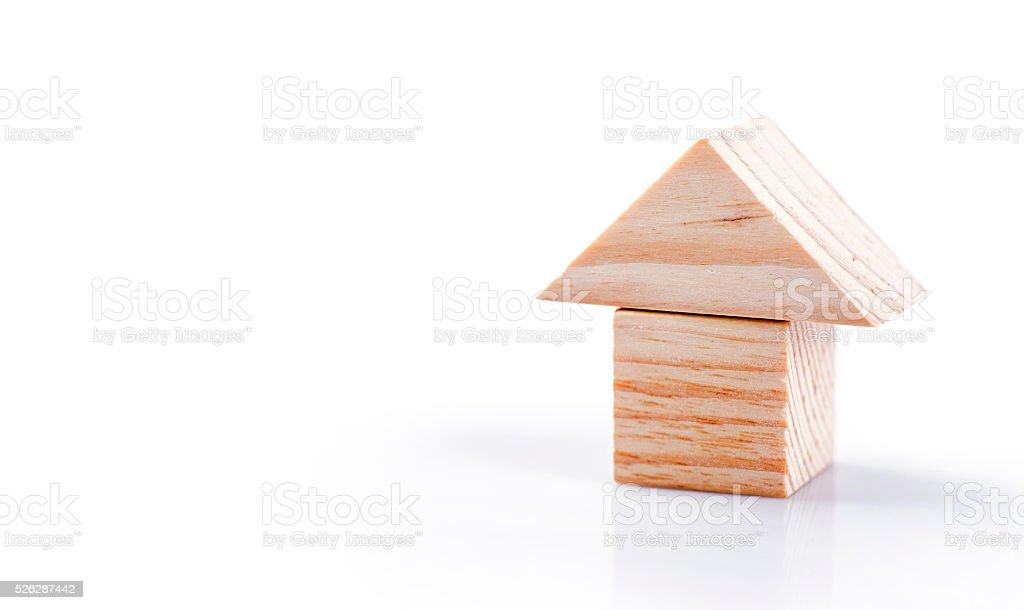 Wooden home toy stock photo