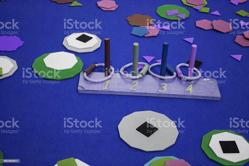 Wooden hoop set stock photo