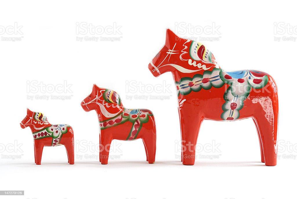 Wooden horses stock photo