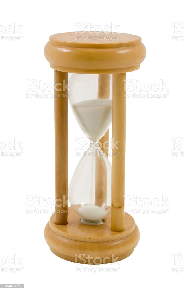 Wooden hourglass royalty-free stock photo