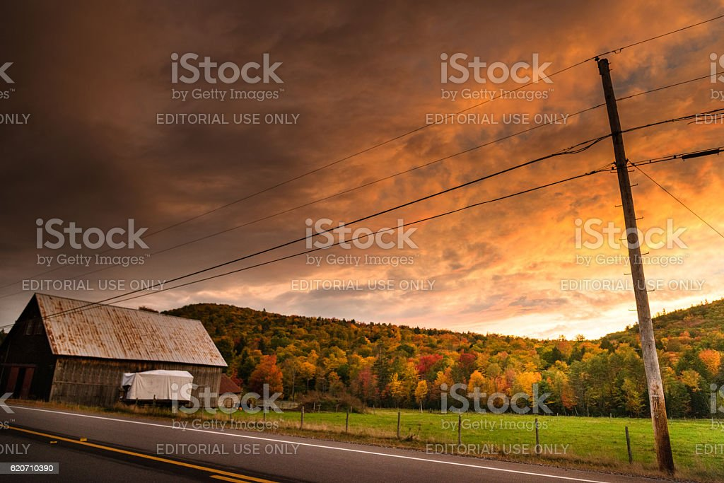 wooden house in new hampshire stock photo