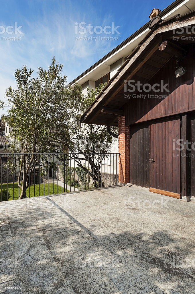 wooden house, outdoor royalty-free stock photo
