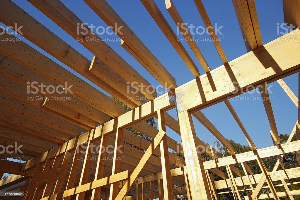 Wooden house sceleton royalty-free stock photo