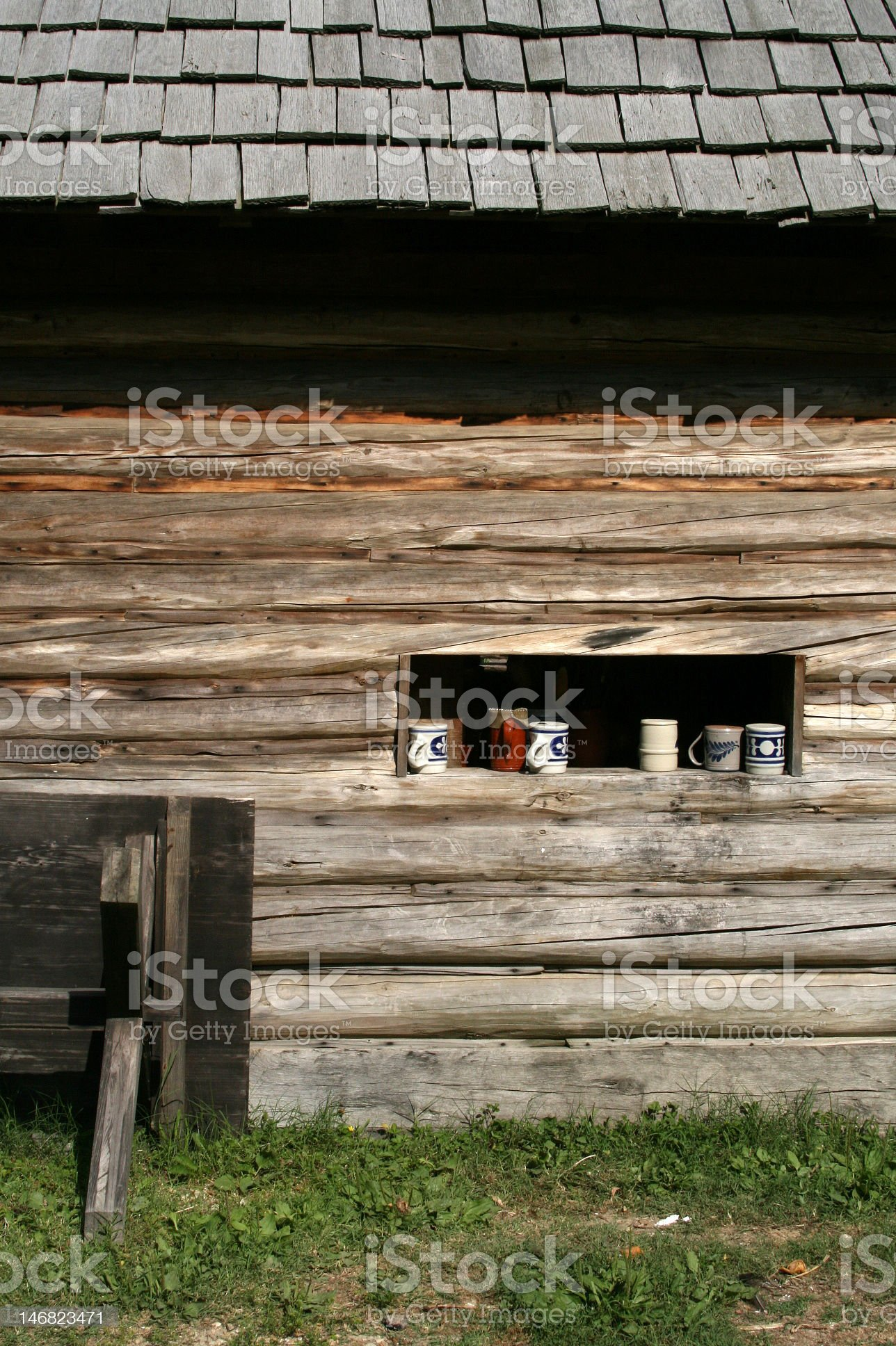 Wooden house wall royalty-free stock photo