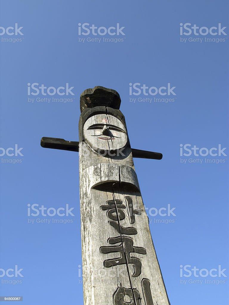 Wooden idol - Jangseung royalty-free stock photo