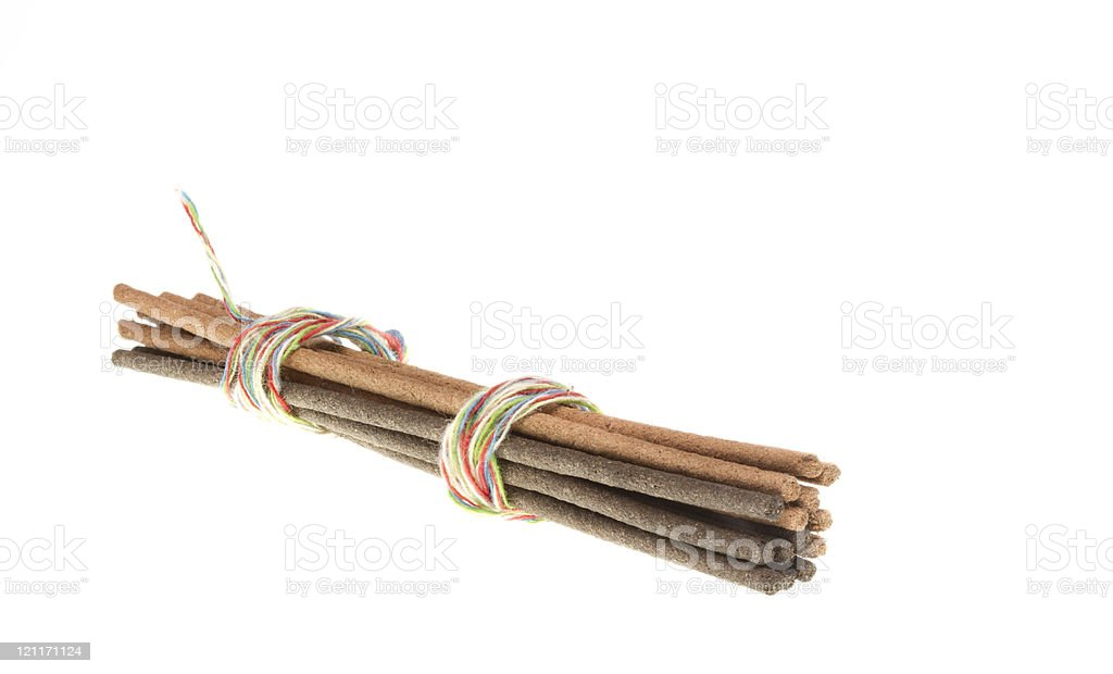 Wooden Incense stock photo