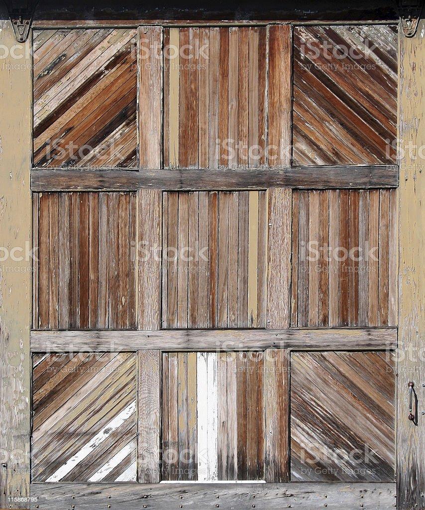 Arrière-plan industriel en bois de la porte du Garage photo libre de droits