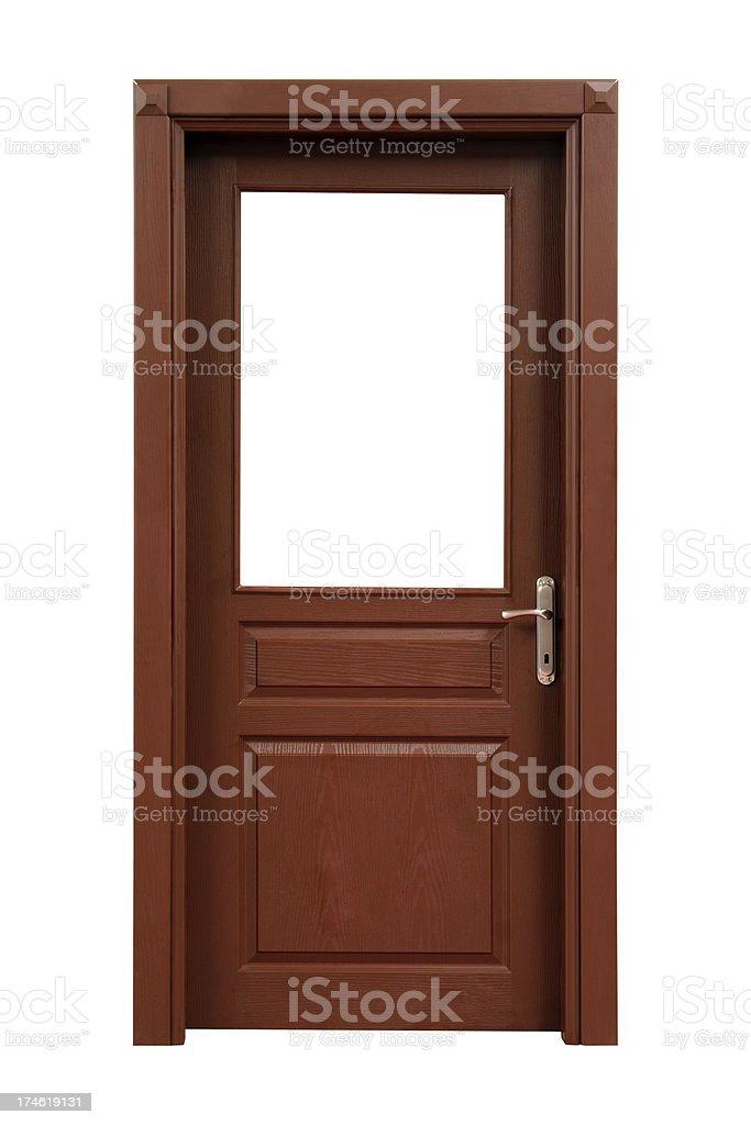 Wooden Interior Door stock photo