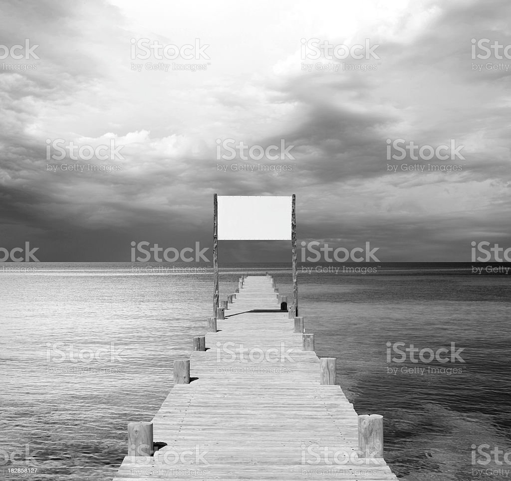 Wooden jetty at the sea royalty-free stock photo