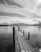 wooden jetty lake chiemsee