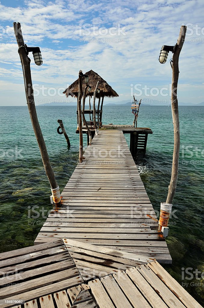 Wooden Jetty Over The Sea royalty-free stock photo
