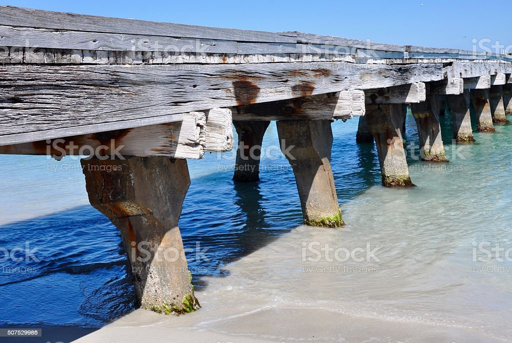 Wooden Jetty Perspective stock photo