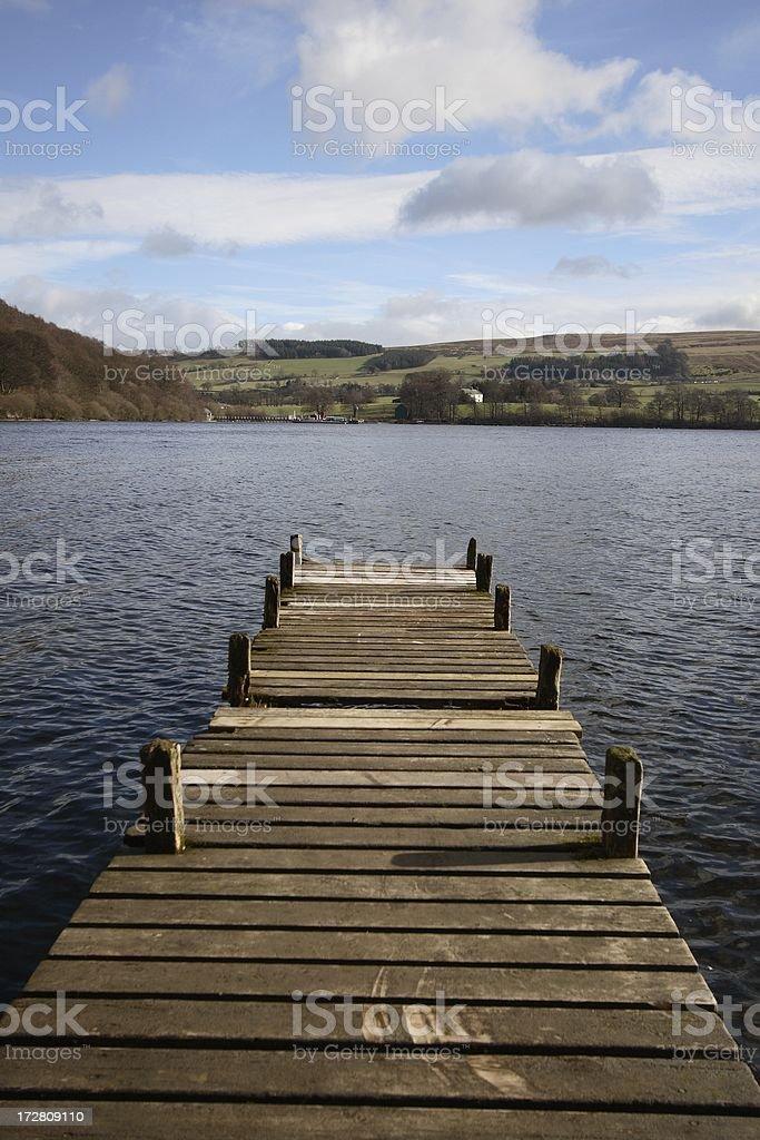 Wooden jetty series - high horizon royalty-free stock photo