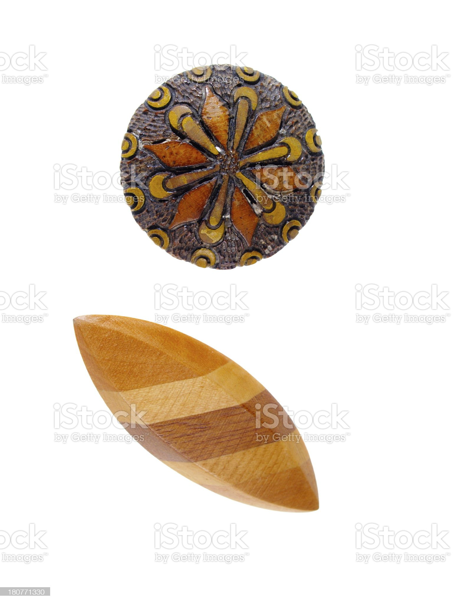 Wooden Jewelry royalty-free stock photo