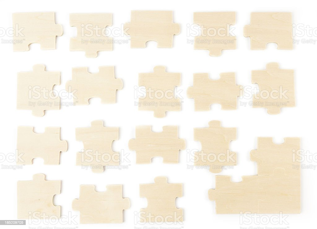 Wooden Jigsaw Puzzle royalty-free stock photo