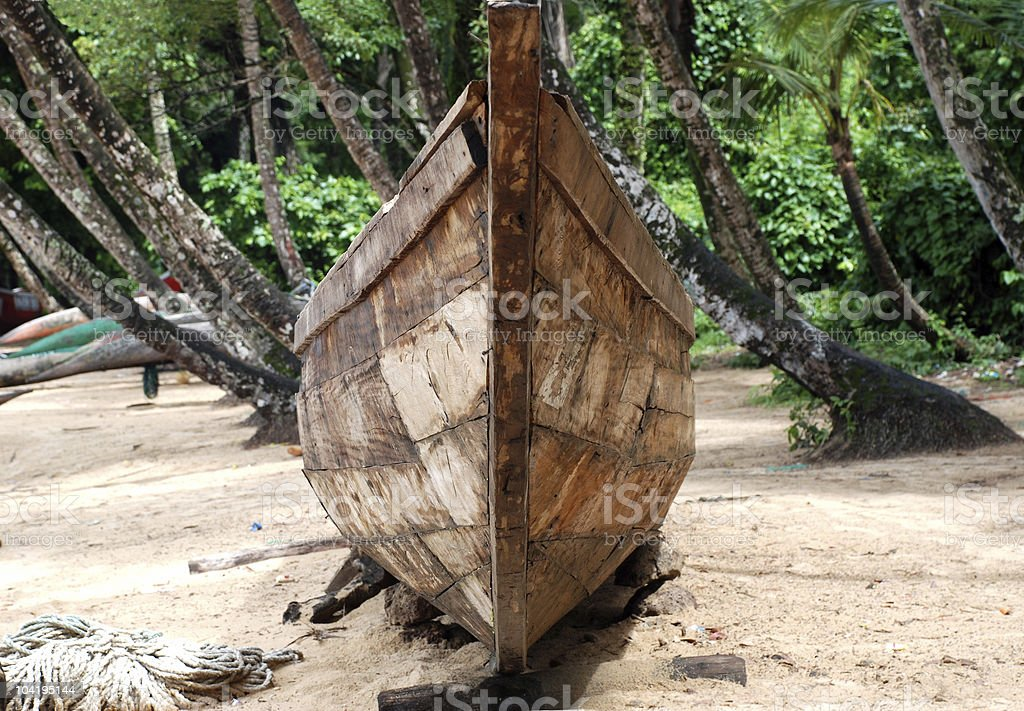Wooden keel royalty-free stock photo