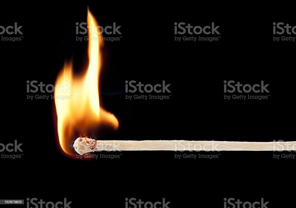 wooden kitchen match stock photo