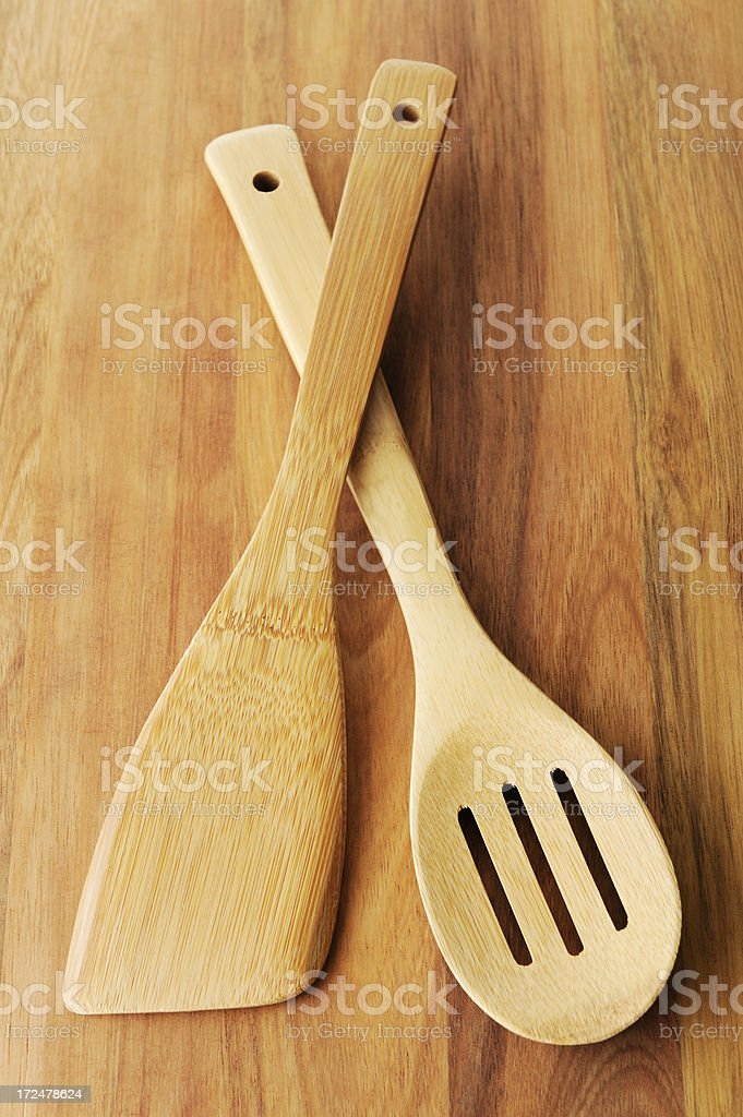 Wooden kitchen utensils royalty-free stock photo
