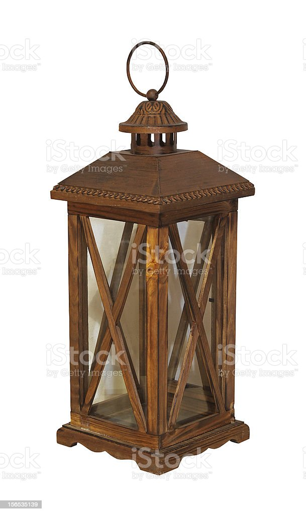Wooden lantern royalty-free stock photo