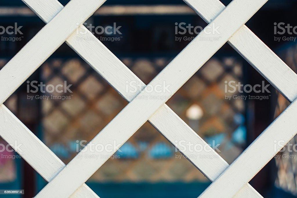 Wooden lattice. stock photo