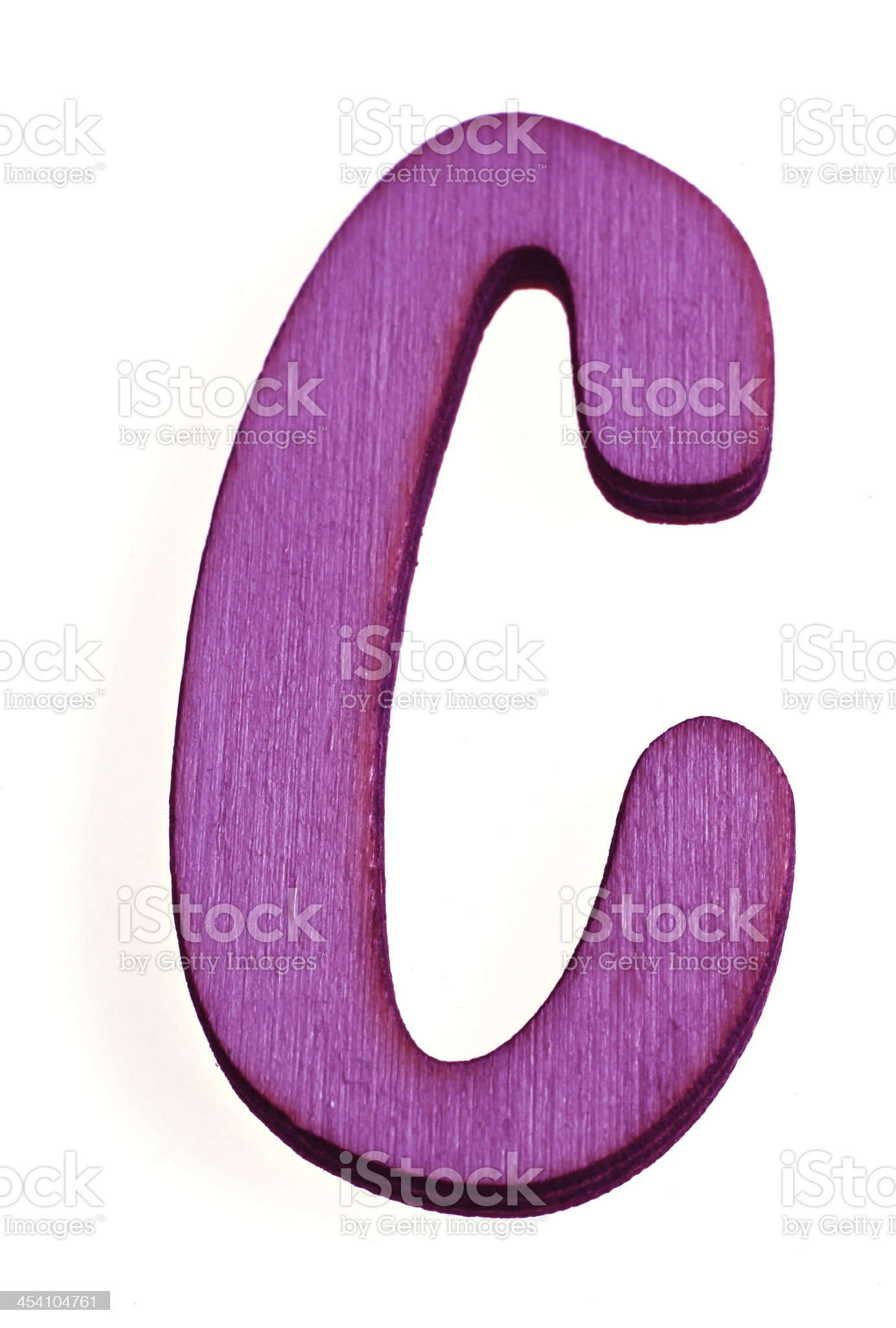 Wooden Letter C royalty-free stock photo