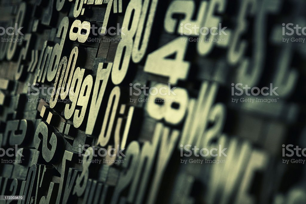 Wooden Letter royalty-free stock photo