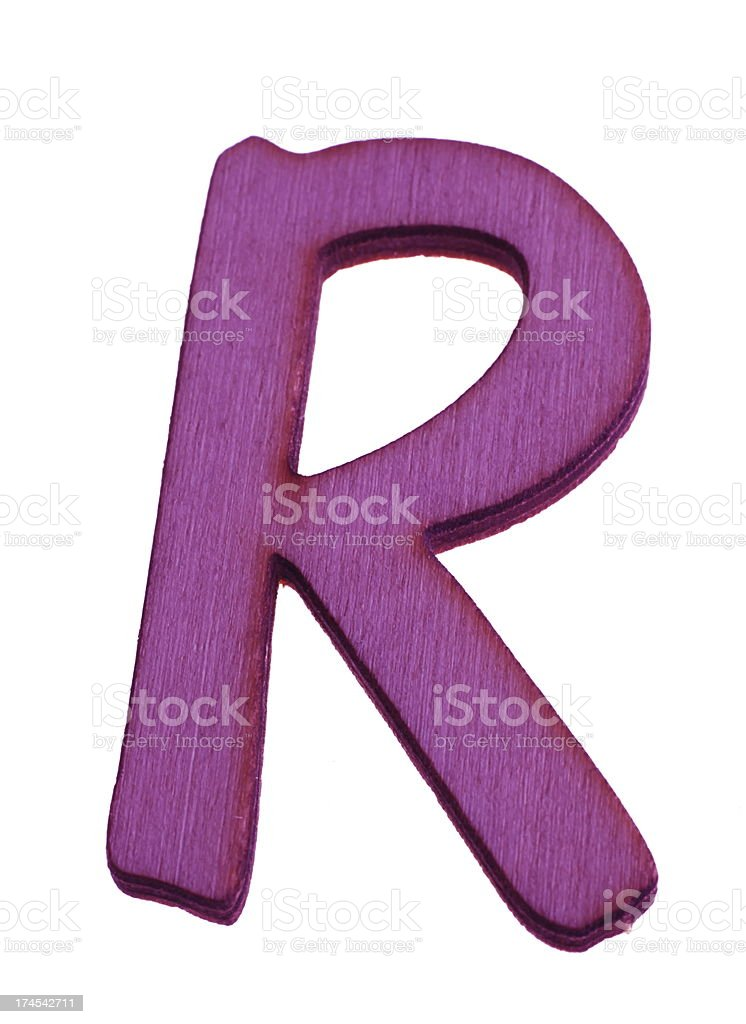 Wooden Letter R royalty-free stock photo