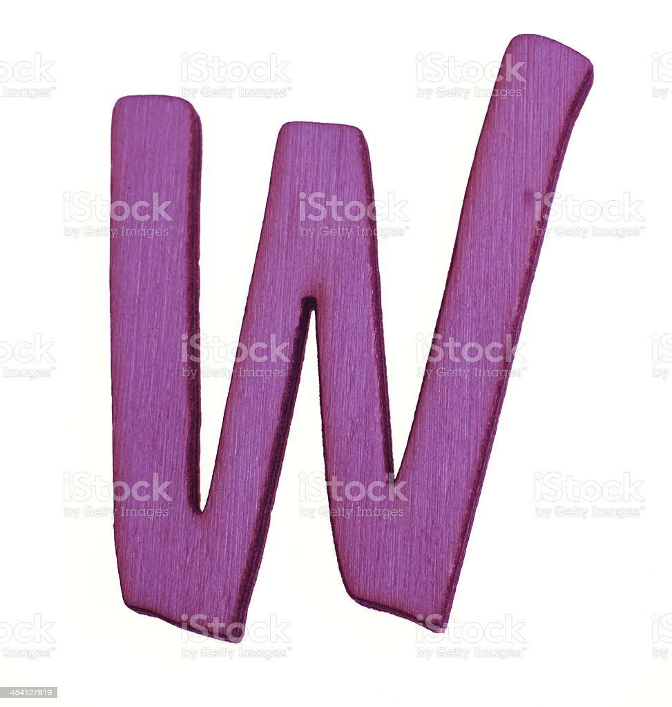 Wooden Letter W royalty-free stock photo