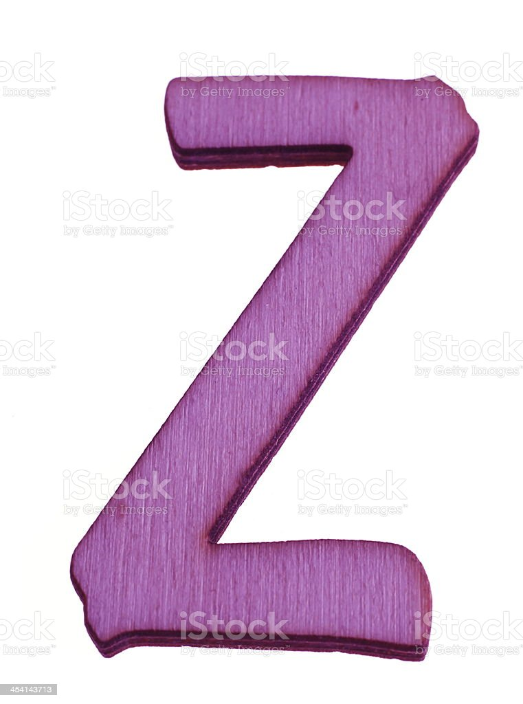 Wooden Letter Z royalty-free stock photo