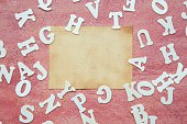 Wooden letters - background