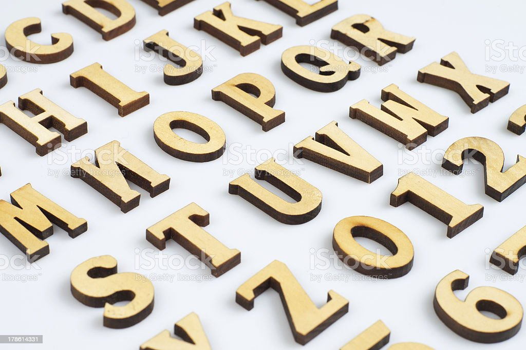Wooden letters royalty-free stock photo