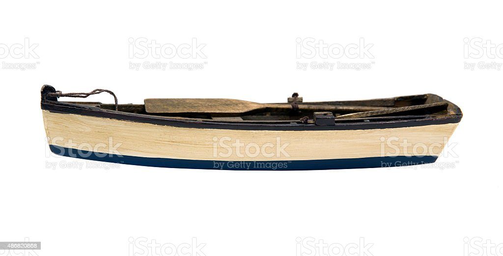 Wooden little boat stock photo