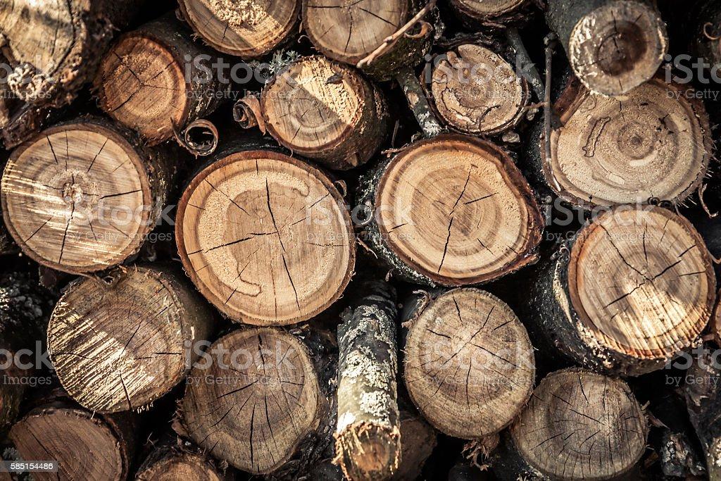 Wooden log background stock photo