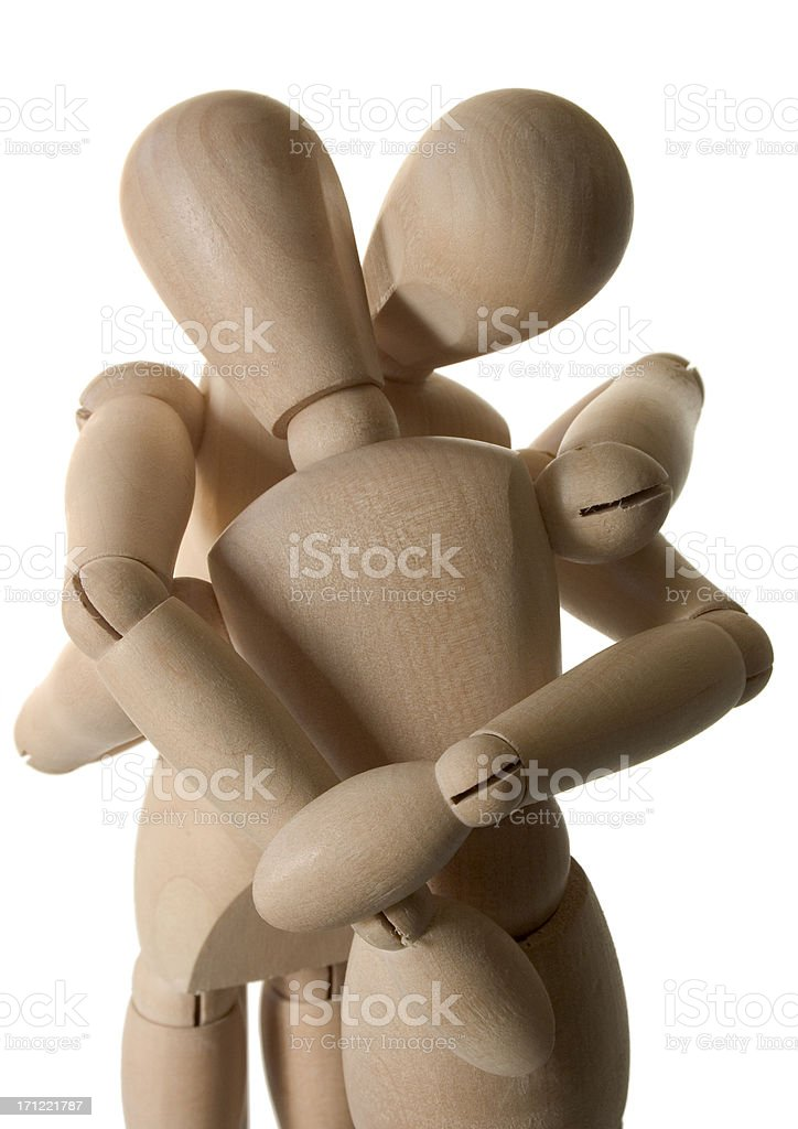 Wooden Lovers royalty-free stock photo