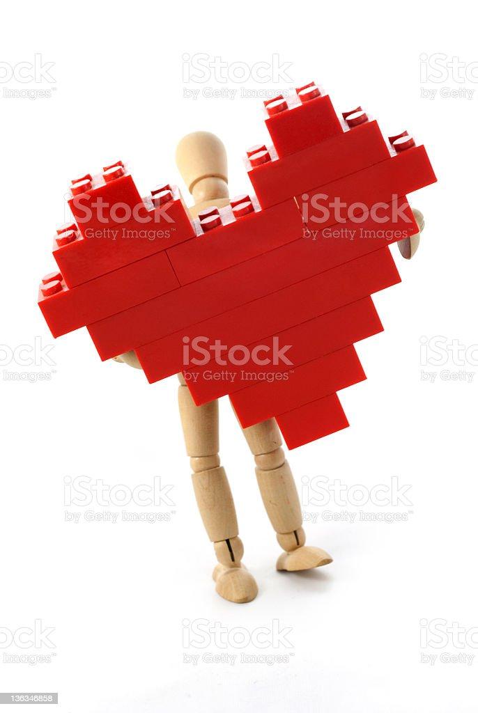Wooden man royalty-free stock photo
