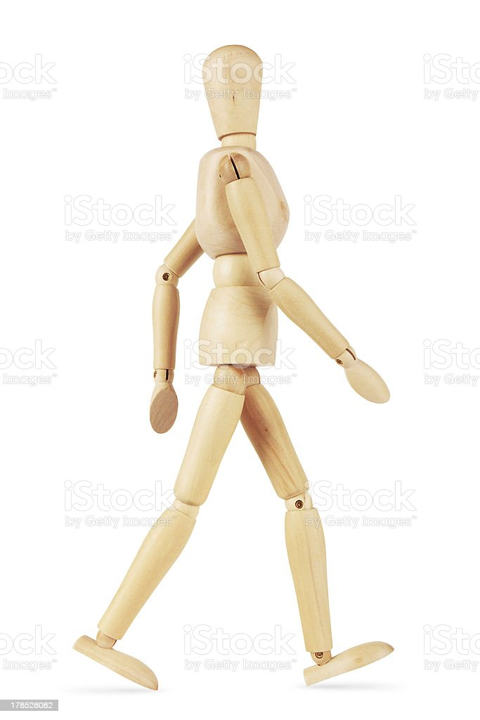 wooden man royalty-free stock photo