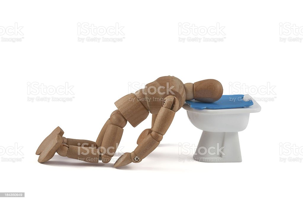 wooden mannequin after party stock photo