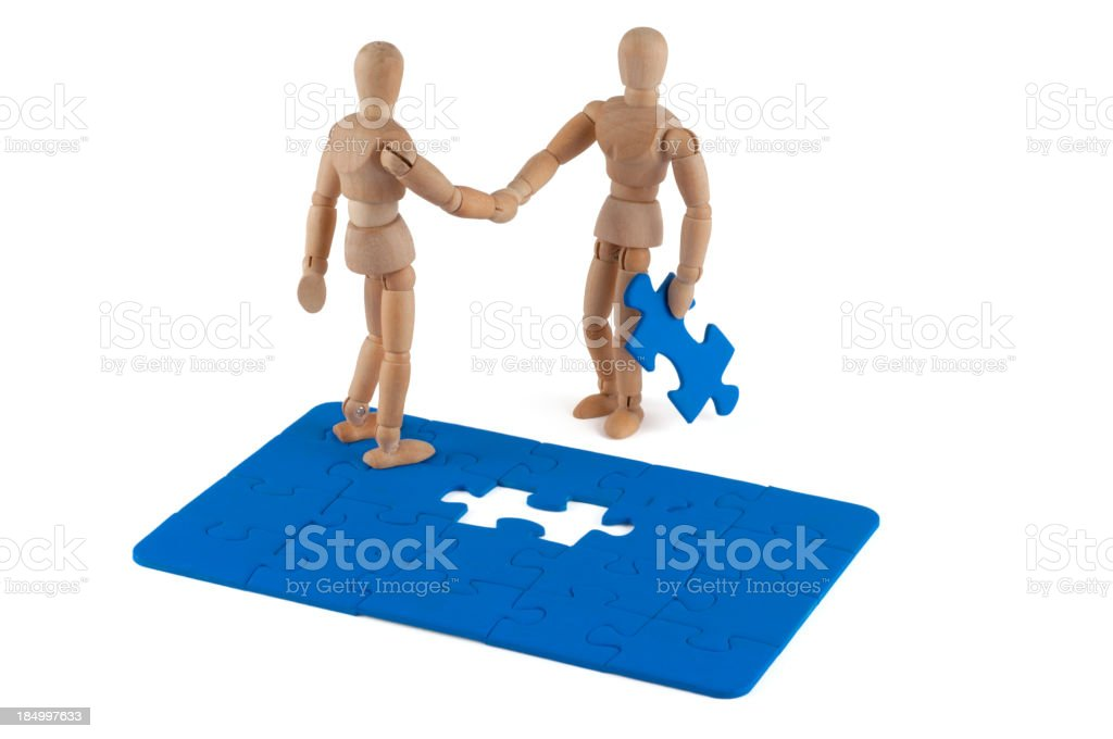 Wooden Mannequin and new solution royalty-free stock photo