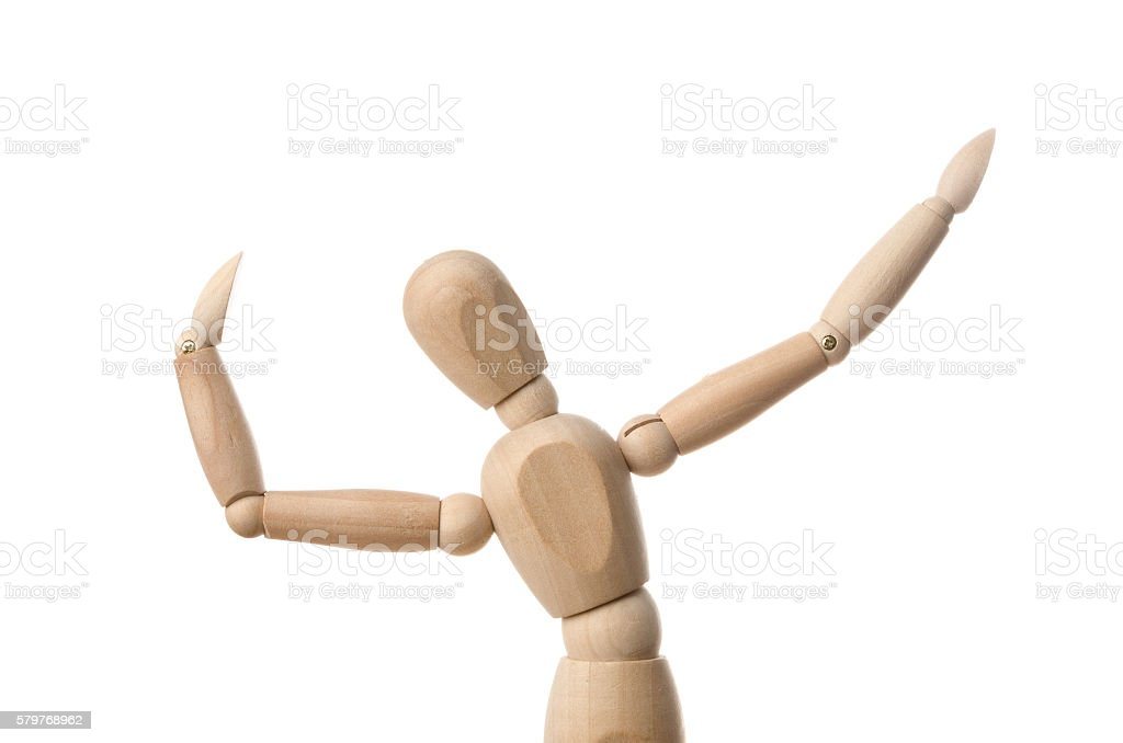 Wooden Mannequin Dummy stock photo