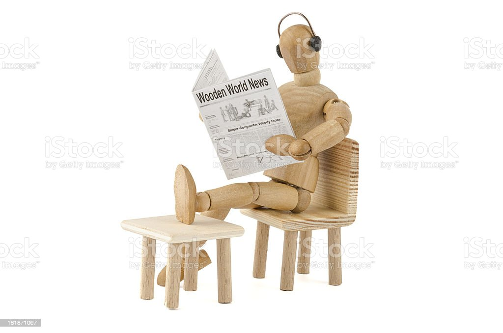wooden mannequin has no stress with the noise royalty-free stock photo