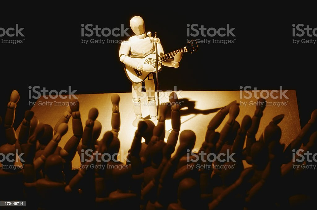 wooden mannequin in concert royalty-free stock photo