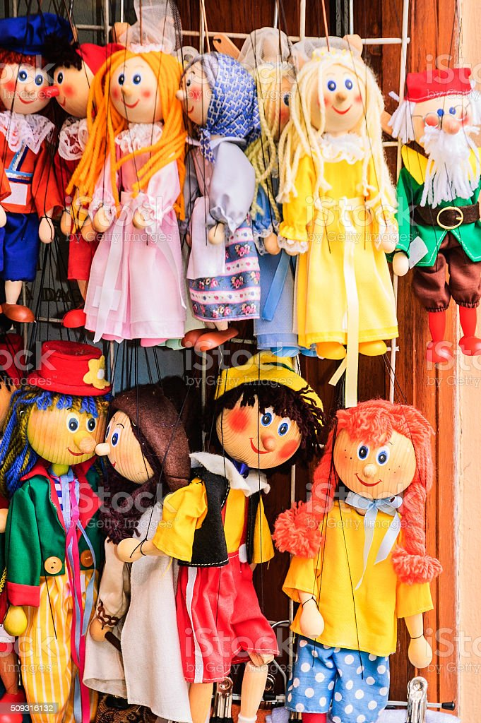 Wooden Marionettes stock photo