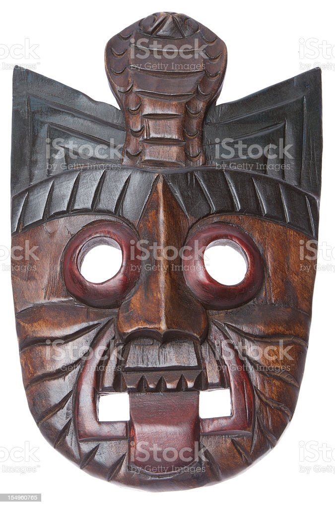 Wooden mask royalty-free stock photo