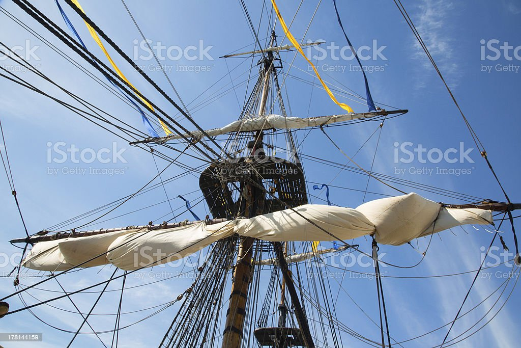 Wooden Mast royalty-free stock photo