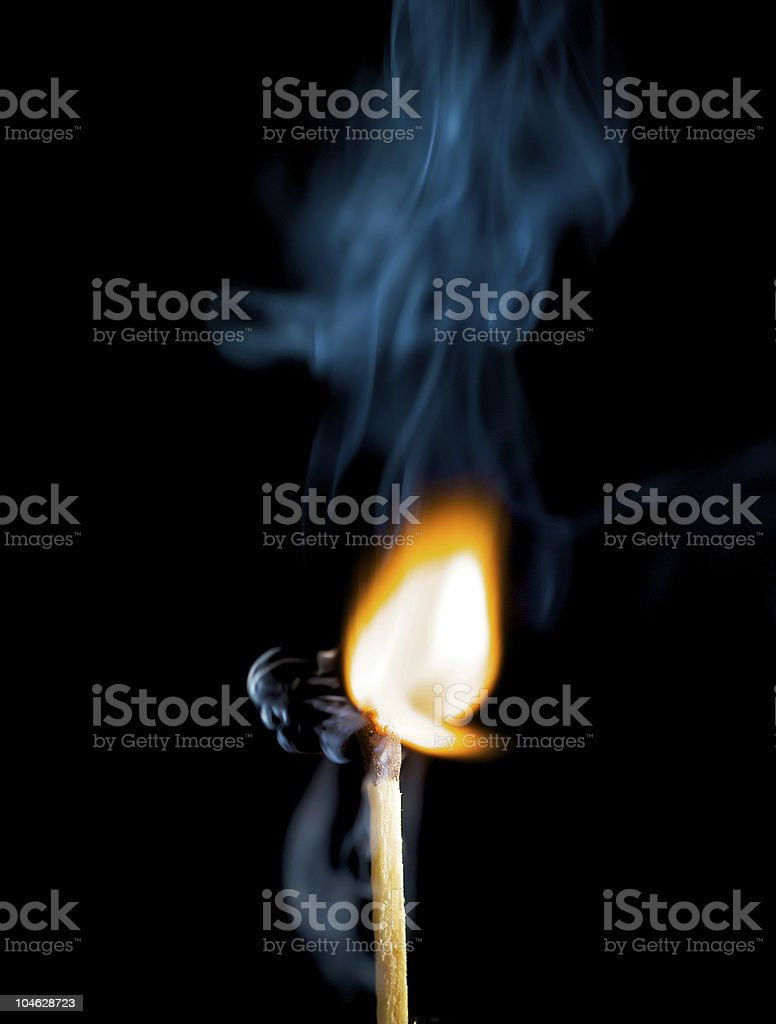 wooden match royalty-free stock photo