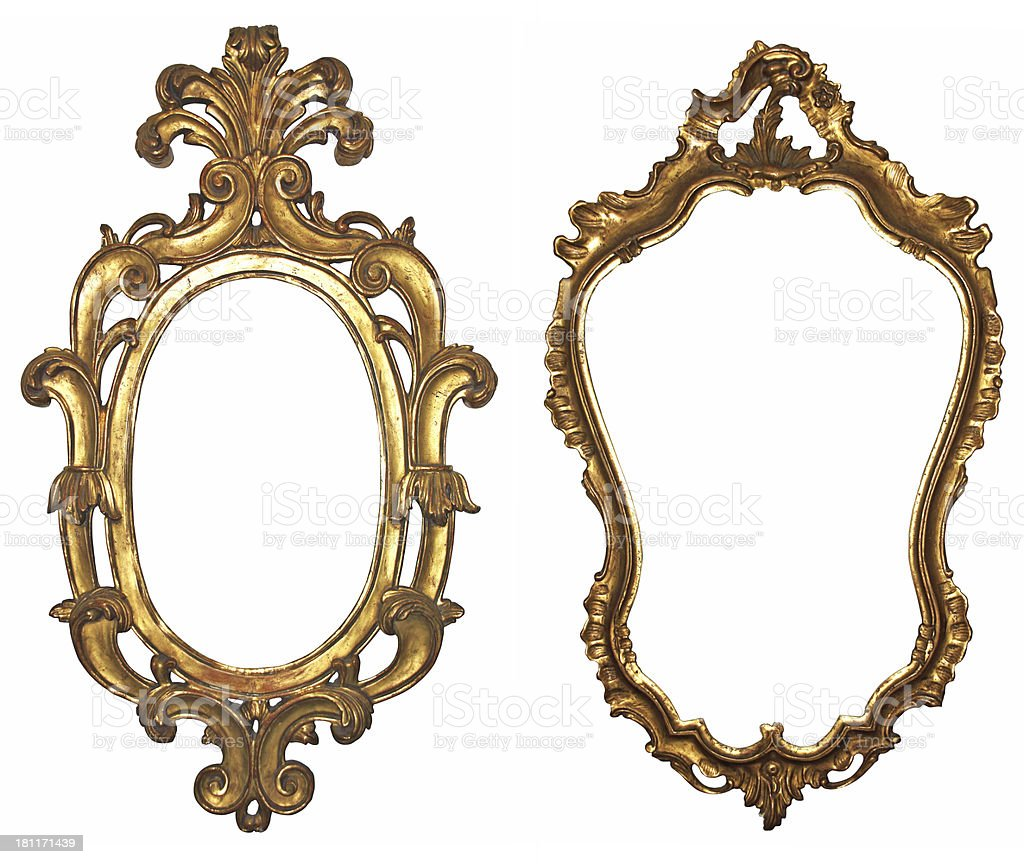 Wooden Mirrors stock photo