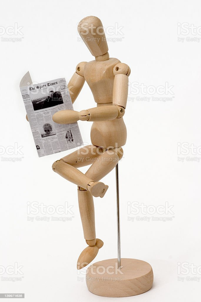 Wooden model royalty-free stock photo