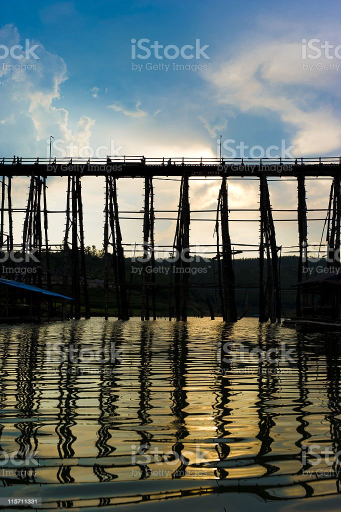 Wooden Mon Bridge royalty-free stock photo