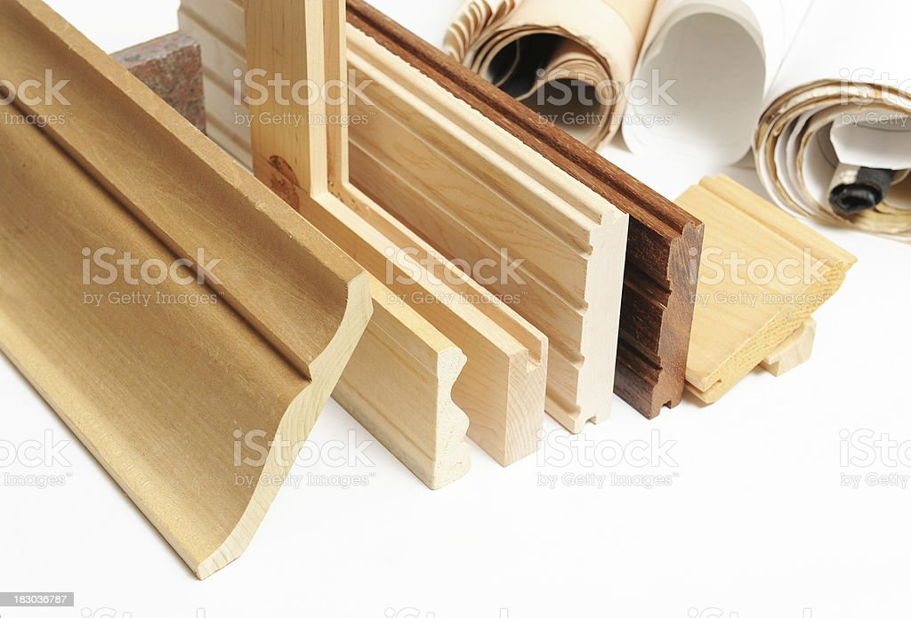 wooden mouldings royalty-free stock photo