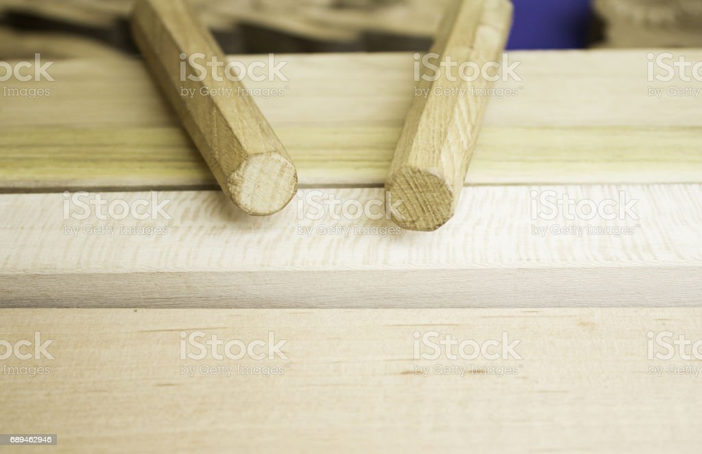 Wooden musical instrument stock photo